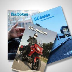 Andra behörigheter. Böcker för dig som tänker ta motorcykel, taxi eller BE-körkort